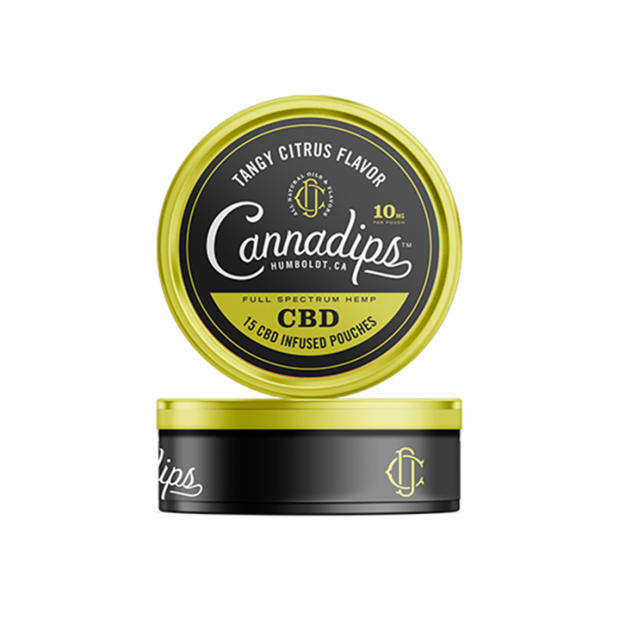 Cannadips CBD - CBD Infused Pouches. THC Free, Tobacco Free, Nicotine Free. Tangy Citrus Flavour.