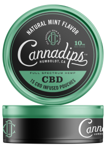 Cannadips CBD - CBD Infused pouches. Natural Mint Single Can.